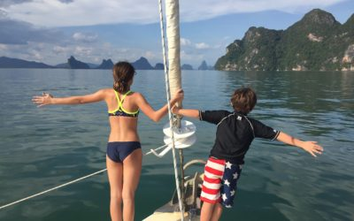 Chartering a catamaran for a family vacation