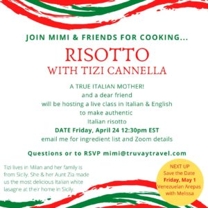 invitation to risotto cooking class